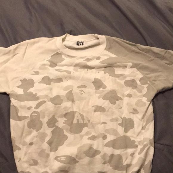 b9e2a96d7 Bape Shirts | Authentic Short Sleeve Crewneck | Poshmark